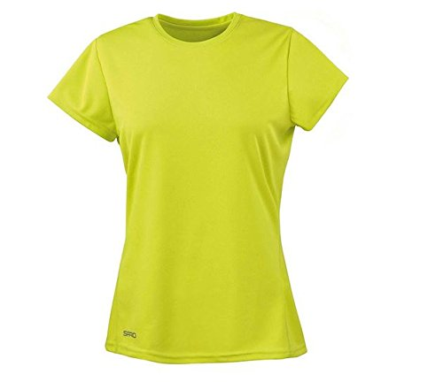 Spiro Damen Quick Dry Super Soft Short Sleeve T-Shirt, Lime, XL