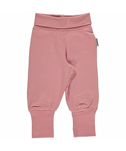 Maxomorra Baby Pants Rib DUSTY PINK 86/92 (Cuff Capri Hose Jeans)