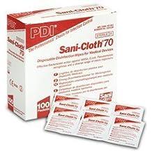 Pdi sani-cloth 70 toallitas con alcohol (sobres), Paquete de 100