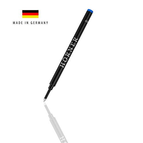 3x Hörner Minen M - Hochwertige Patrone für Tintenroller I Schreibfarbe: Blau I Dokumentenecht I 100% MADE IN GERMANY