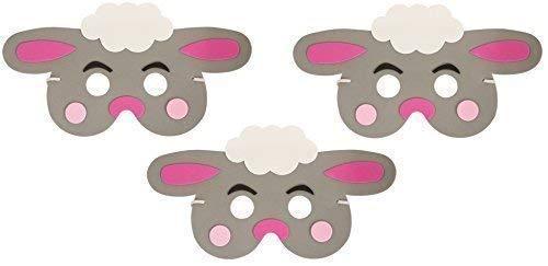 3 x Ostern Lamm EVA Schaumstoff Maske Kinder Parade - Kind Lamm Kostüm