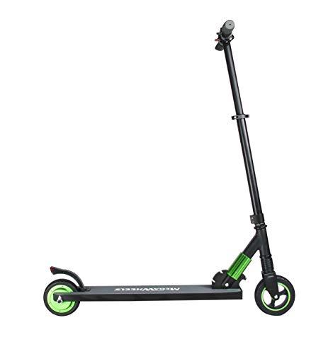 Megawheels Patinete Eléctrico Plegable Scooter Eléctrico 23 Km/h Manillar Ajustable para Adultos y Adolescentes (Blanco)