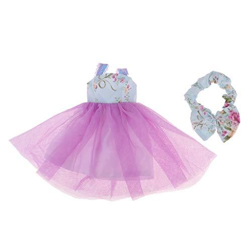Fenteer Puppen Kleidung Pyjamas Nachthemd Nachtwäsche Für 1/3 BJD Puppe Dress Up - # 4