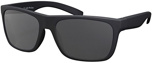 Sonnenbrille UV 400 La Optica Herren Männer Leicht Sport Angeln - Einzelpack Gummiert Schwarz (POLARISIERTE Gläser: Grau)