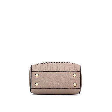Damenmode PU Leder Messenger Umhängetaschen/Handtasche Tote Gray