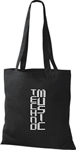 ShirtInStyle Stoffbeutel Musik Beutel Techno Music Baumwolltasche Beutel, diverse Farbe black