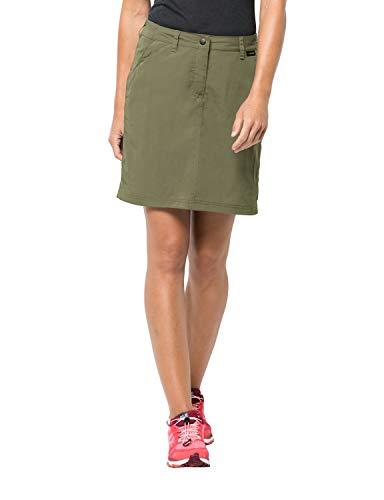 Jack Wolfskin Kalahari Skort, leichter Damen Rock mit UV-Schutz, schnelltrocknender Hosenrock für Reisen und Freizeit, Rock und Shorts in einem -