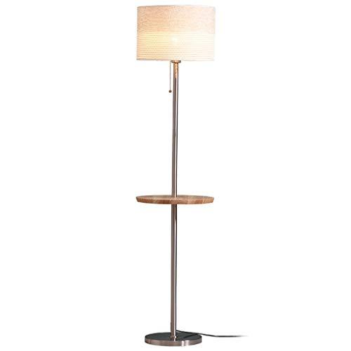 $stehlampe Stehlampe-LED-Lichtquelle-Kaffeetisch-Stehlampe, nordische moderne kreative Schlafzimmer-Wohnzimmer-Bett-vertikale Stehlampe (Color : Pull switch+remote control) (Vintage Queen-betten)