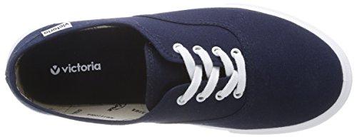 Calego Ingles Lona Unisex-Erwachsene Gymnastikschuhe Blu(Bleu (Marino))