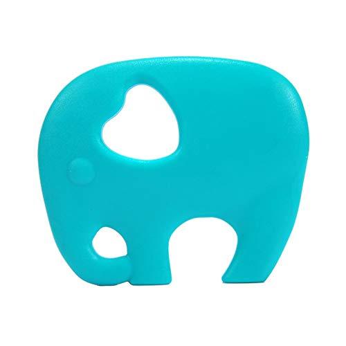 Large Teething Toy Food Grade Silicone Grind Baby's Teeth Teething Toy Ease Teething Pains Teether DIY Supplies Baby molars Green Food Storage