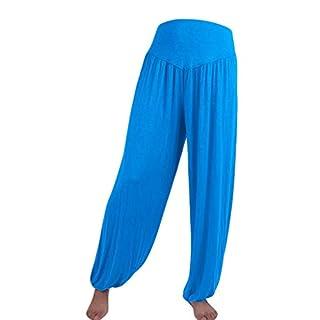 IFOUNDYOU Haremshose Damen Elastisch LockerBeiläufig Modal Baumwolle Weich Yoga-Sport TanzenPumphose Ballonhose Pluderhose Yogahose Aladinhose Harem Sommerhose Pilates Hosen Damen