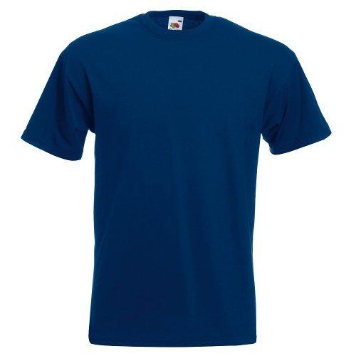 Fruit of the Loom Men's T-Shirt -  Blue - Large
