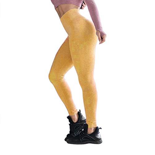 VJGOAL Yogahosen für Damen High Waist Leggings Einfarbig Freizeit Strumpfhosen Sport Fitness Running Hip Women Yoga Pants 13 (Machen Lego Kostüm Händen)