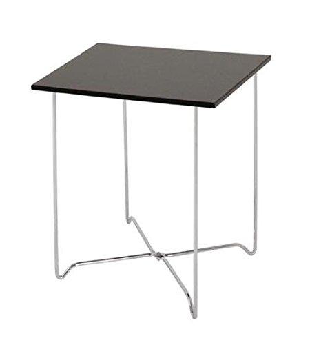 Haku table d'appoint en acier, plateau brillant 33590 noir