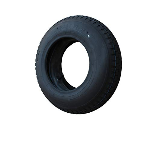 Set Reifen+Schlauch 400x100 4.80/4.00-8 Stollen Profil PR4-Lagen Tragfähigkeit 305 kg (Neue Reifen)
