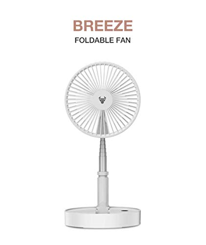Robobull BREEZE Foldable Fan | 7200 mAh Battery | 4 Speed Wind Control | 24 Hour Run Time | Super Quiet Performance