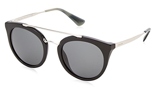 Prada Damen Sonnenbrille 0PR23SS 1AB1A1, Schwarz (Black/Grey), 52 (Prada-sonnenbrille)