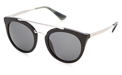 Prada 0pr23ss 1ab1a1 52, occhiali da sole donna, nero (black/grey)