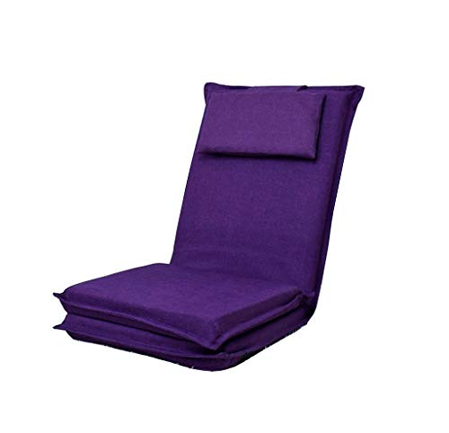 HCJLRSF yan Long Home Pouf, Pliable Lavable Respirant Réglable Angle Chambre Canapé Canapé Unique Orange Rouge, Violet foncé Pliable réglable Canapé Paresseux canapé Chaise (Couleur : #2)