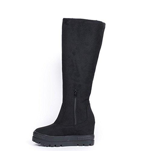 Effet Compensées Ideal Daim Bottes Noir Shoes Ramina t4twSqB