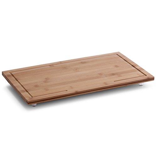 Zeller 25324 Herdabdeck-/Schneideplatte, Bamboo, 50 x 28 x 4 cm Holz Herd-abdeckung