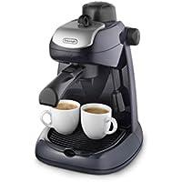 De'longhi EC7 - Cafetera hidropresión, 800 w, variedad cafés, 2 tazas, tapa seguridad, sistema capuccino, negro y plata