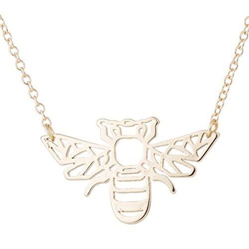 Toporchid Honey Bee Little Hummel Anhänger Halskette Für Frauen Mädchen (Goldfarben) (Honey Bee Kostüm)