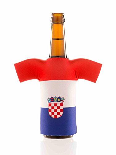 Flaschentrikot Kroatien - Flaschenkühler, Bierkühler, Getränkekühler aus Neopren - Fanartikel und Partyspaß zum Grillen, Public Viewing und (Kostüm Team Ideen Olympia)
