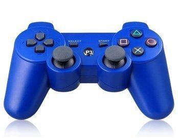 Gamepad Controller Wireless Spiele Doppel-Erschütterungs der Kontrolleure für ps3. - Wireless Controller Ps3 Blau