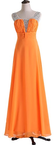 Drasawee Damen Empire Kleid Orange - Orange