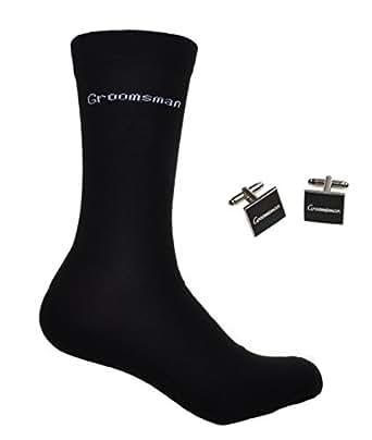 GROOMSMAN Wedding Socks & Cufflinks Set