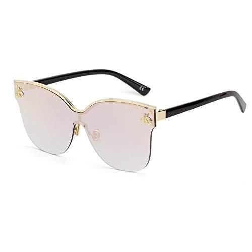 YEXIAOWEN Modische Sonnenbrille, große gerahmte Sonnenbrille, Marine Sonnenbrille, C3