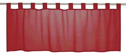 Bistrogardine Scheibengardine Vorhang halbtransparent Membran weiß 198480