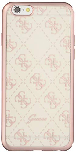Guess UHCP6TR4GRG 4G Collection Cover in TPU per Apple iPhone 6/6S Trasparente/Rosa