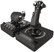 Logitech G X56 HOTAS RGB Throttle and Joystick Flight Simulator Game Controller, 6 Dregrees of Freedom, 4 Spri