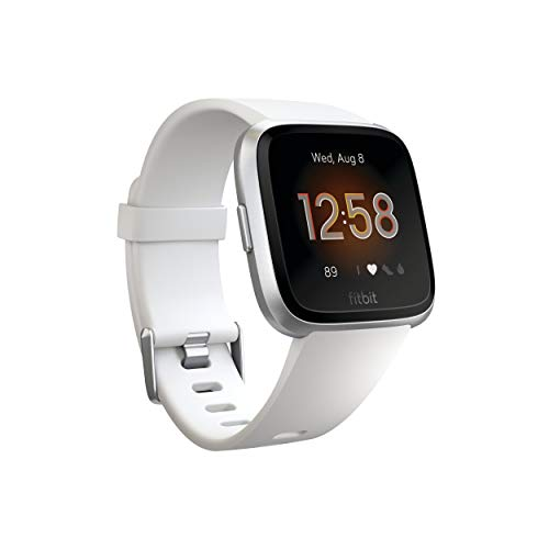 Fitbit Versa Lite Reloj Inteligente, Adultos Unisex, Blanco/Plata Aluminio, Talla única