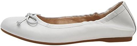 Gabor Fashion Damenschuhe 44.120.23 Damen Ballerinas Slipper Slip-On Leder (Glattleder) Weiß (cielo), EU 36