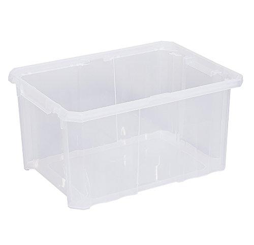 Transportbox ohne Deckel Aufbewahrungsbox Lagerbox Kunststoffbox Wäschebox Plastikkiste Behälter | 40x30x20 cm | 16 Liter (5er Set / 16 Liter)
