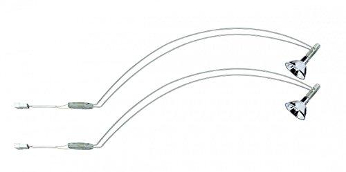 Cabinet luminaire, halogen, 2x35W, Assistent II 230V/12V, GU5.3, Chrome