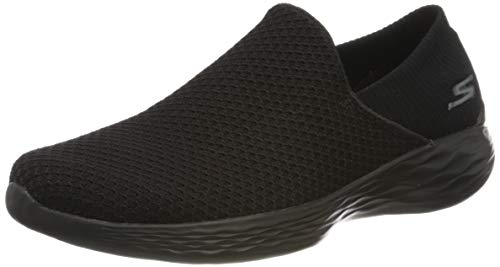 Skechers Damen You Slip On Sneaker, Schwarz (Bbk), 39.5 EU