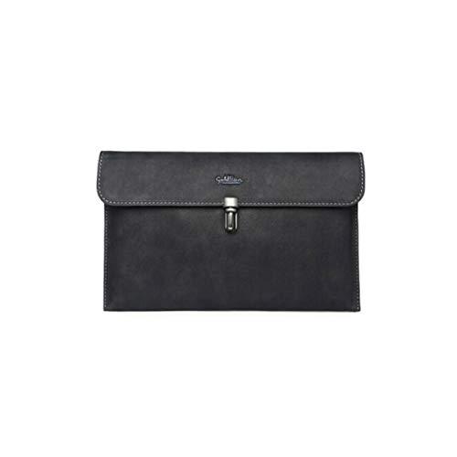 KUQIQI Herrenhandtasche, Umschlagtasche, große Kapazität Herrenhandtasche, Mode Herrenhandtasche, schwarz (Color : Black, Size : C)