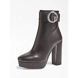 Guess ABREW/Stivaletto (Bootie)/Leat, Bottines Femme, Noir Black, 36 EU