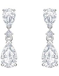 Boucles d'oreilles gouttes Swarovski Palace, cristal blanc, métal rhodié, pour femme