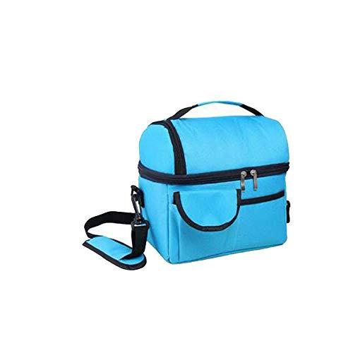 DYTJ-Lunchbox Bento Box Brotdose Double-Layer Insulated Lunch Bag Wiederverwendbare Lunch Box , Mit Schulter-Schulter-Diagonal-Schultergurt Für Medium, Lunch Bag Für Schule, Arbeit, Büro (Farbe: Rot (Bento-lunch-box Mit Träger)