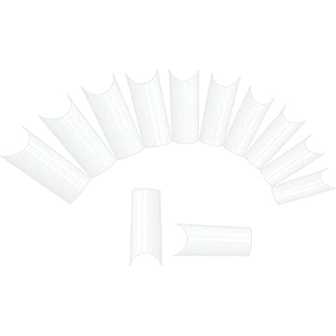 Sannysis uñas kit 10 Tamaños clavo falso blanco uña falsa (400 PCS)