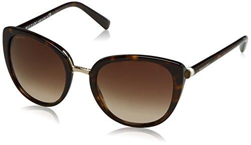 Bulgari Damen 0Bv8177 504/13 53 Sonnenbrille, Braun (Havana/Brown),