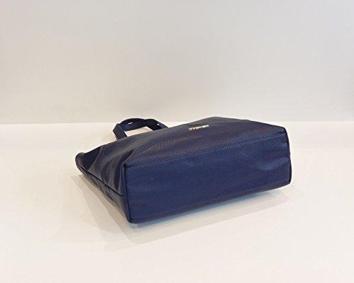 Shopping bag con manici regolabili, Twin-Set Simona Barbieri Blu
