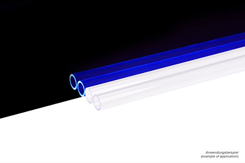 Tube 13/10mm Plexi (PMMA) Klar UV-Blau 80cm - 4er Set Wasserkühlung HardTubes ()