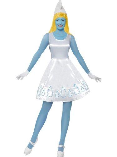 Original Lizenz Schlumpfinekostüm Schlumpfine Kostüm Schlumpf Schlumpfkostüm für Damen Damenkostüm blau Gr. 34 (XS), 36/38 (S), 40/42 (M), (Schlümpfe Kostüme)