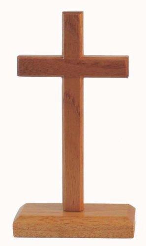 20cm stehend cross rechteckige Basis christlichen desktop Geschenk Kruzifix aus Holz Holz